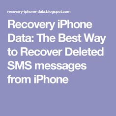iphone 5 recover lost data