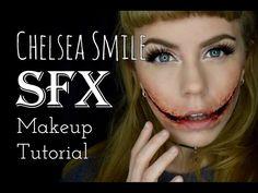 Chelsea Smile SFX Makeup Tutorial - Using Scar Wax - YouTube