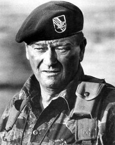 "Saluting all those who served.    ""Courage is being scared to death... and saddling up anyway."" ~ John Wayne"