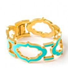 Signature Cartouche Bracelet Turquoise