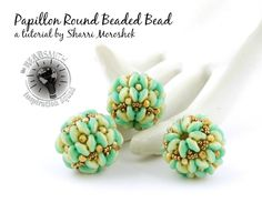 Beaded Bead created with Czech SuperDuo Duet beads. Available free from participating Local Bead Stores.