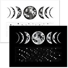SALE Phases of the Moon, 2018 Full Moon Calendar Phase Kitchen hand Towel, moon art screen print, space stars lunar science print Dark Moon, Blue Moon, Doodle, Moon Phase Calendar, Moon Pillow, 3d Video, Print Calendar, Calendar Design, Kitchen Hand Towels