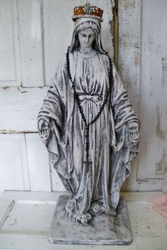 Virgin Mary figure statue large with handmade by AnitaSperoDesign