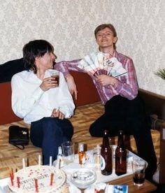 Boyz keep swinging. Bowie and Iggy.