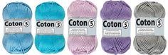 Coton 5 par Lammy Yarns Pelotte de Laine - Différents coloris