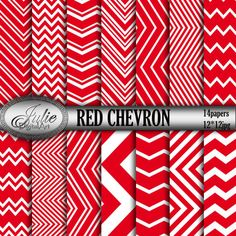 Red chevron digital paper Zigzag  background от JulieDigitalArt