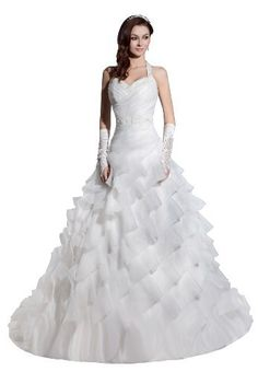 Herafa Ball Gown Wedding Dress Chapel Train Ruched Rows of Lace & Beading, http://www.amazon.com/dp/B00BM6V9IS/ref=cm_sw_r_pi_awd_uL3Fsb0CDN0SM