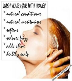 wash your hair with honey - benefits