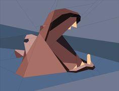 wild animals safari-1 - (7) Name: 'Quilting : Hippo