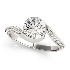 Transcendent Brilliance 14k Gold 3/4ct TDW Diamond Eternity Halo Engagement Ring (G-H, VS1-VS2) (Rose - Size 7), Women's, Pink