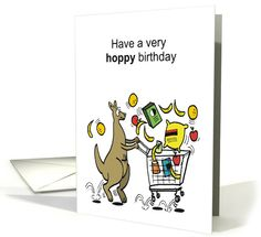 Pin by al benge on als cartoon greeting cards pinterest humor birthday card featuring cartoon kangaroo with shopping trolley by artist al benge bookmarktalkfo Gallery