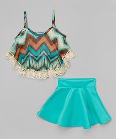 b68d82085b Look at this Mint Fringe Tank Crop Tops For Kids