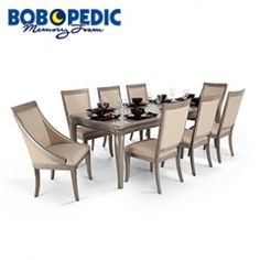 gatsby 9 piece dining set with side chairs swoop chairs
