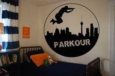 Wall Vinyl Sticker Decals Mural Room Design Pattern Art Decor Parkour Street Life City Sport Hobby mi936 by RoomDecalsAndDesigns on Etsy
