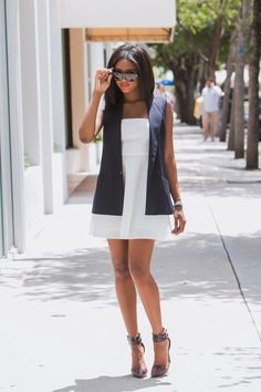 7 Stylish Navy Blue Outfit Ideas for Summer #diy #psilovethat