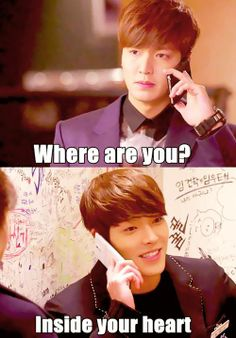 """Why do you rich boys always answer my phone?!"" #Heirs episode 16 #LeeMinHo #KimWooBin  lol"