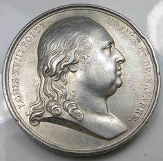 Frankreich 1814 Silber Medaille France Silver Medal Louis XVIII La Vaccine