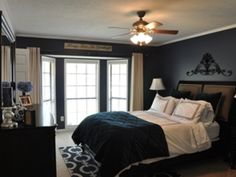 navy blue bedroom ideas - Google Search