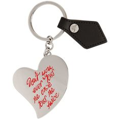 Vivienne Westwood Women Gadget Heart Metal Key Holder ($52) ❤ liked on Polyvore featuring accessories, keychain, silver, heart key ring, heart shaped key ring, key chain rings, heart key chain and metal key rings