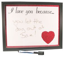 I Love You Whiteboard Craft Kit by Trends Craft Studio - great for leaving daily notes to those that mean so much.
