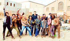 DIXON-IKRA-REEDUS-DIXON...PEACE-LOVE-PARTY...., BOOOOM TWD season 3 CAST :-) LOVE YOU GUYS and...