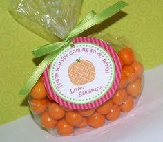 Polka Dot Pumpkin Birthday Party Invitation, Photo 1st Birthday Invitation by Kidfully Celebrations. $12.00, via Etsy.