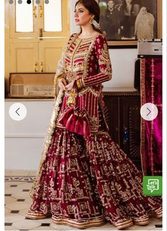 Pakistani Fashion Party Wear, Pakistani Wedding Outfits, Pakistani Dresses Casual, Indian Bridal Outfits, Pakistani Bridal Dresses, Pakistani Dress Design, Fancy Dress Design, Bridal Dress Design, Asian Bridal Dresses