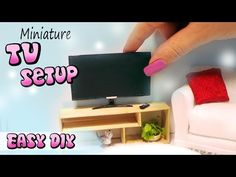 Miniature TV, Remote & Stand Tutorial | Creating Dollhouse Miniatures | Bloglovin'