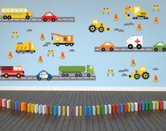 Transportation Wall Decals - Train, Construction, Car, Truck ...