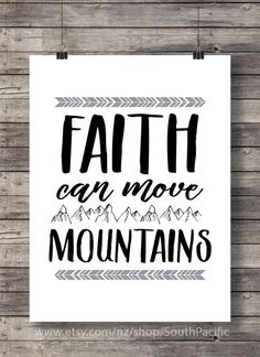 Faith can move mountains  Graphic Typography art by SouthPacific