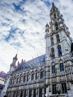 The Town Hall spire, Brussels