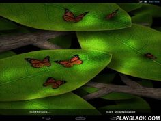 Tap Leaves  Android App - playslack.com , Tap leaves - a juicy 3D live  wallpaper displays air-conditioned and composure of the season wood. Solar markings of light and an uncomplicated air, butterflies or fireflies compete in foliage being  on time of day.