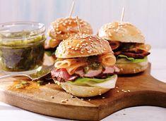 Hamburgers miniatures au porc et à la Mozzarella fraîche recette   Plaisirs laitiers