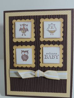 "Stampin Up! ""Welcome BABY"" Handmade Baby Card"