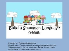 Fun winter themed language game!  www.thedabblingspeechie.com