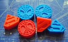 6 x Hero Soaps  Superman and Spiderman by NerdySoap on Etsy