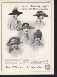 Days Gone By - 1917 Spring hats