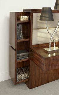 Detail of Nightstand Fine Furniture, Furniture Design, Nightstand, Bookcase, Shelves, Detail, Room, Home Decor, Bedroom