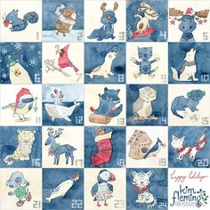 Happy Christmas everyone! Here is my full 24 days of advent calendar art with @victoriajohnsondesign. Wohoo! This is my first Christmas with my whole family (kids included) EVER. So amazing to all be together. Hope you are having/have had lovely days of family, friends and frivolity too xxx