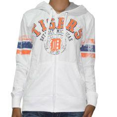 Amazon.com: MLB Detroit Tigers Womens Athletic Zip-Up Hoodie Jacket (Vintage Look): Clothing