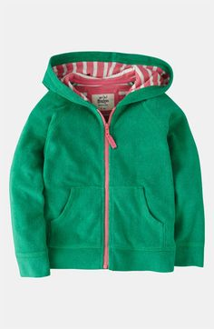 Mini Boden 'Toweling' Hoodie (Toddler, Little Girls & Big Girls) available at #Nordstrom