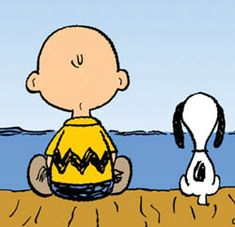 Love this image; tells so much; Charlie Brown and Snoopy.