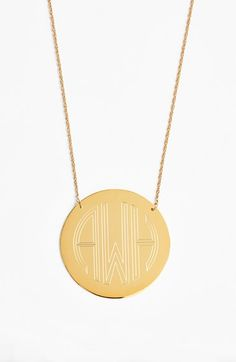 Moon and Lola 'Block Font' Personalized Monogram Pendant Necklace (Online Only)   Nordstrom
