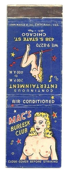 US $3.99 Used in Collectibles, Paper, Matchbooks
