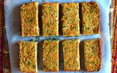 Slightly sweet zucchini, fresh carrot, and cheesy nutritional yeast come together in this delicious and fluffy bread.