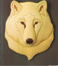 Kathy Wise Intarsia Polar Bear Intarsia Wood Working By