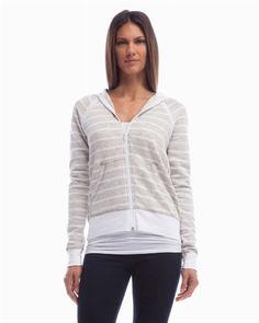 Montauk stripe zip hoody - Three Dots