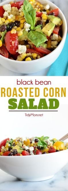 This black bean roasted corn salad recipe is super flexible and can be made the way you want with your favorite vegetables. Corn can be grilled ahead of time to make it a breeze to throw together any time. print the recipe at TidyMom.net