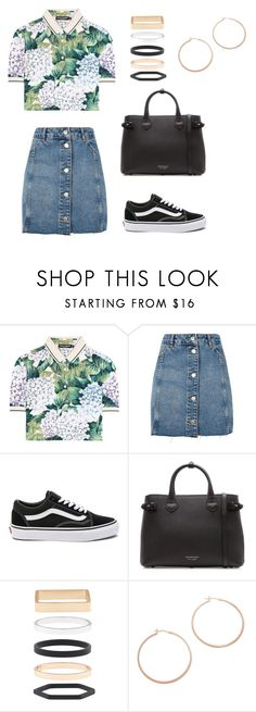 """........."" by claralichti on Polyvore featuring Dolce&Gabbana, Topshop, Vans, Burberry, Accessorize and Jennifer Zeuner"