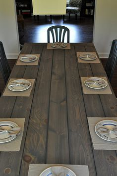 DIY Farmhouse Table - The cheap way